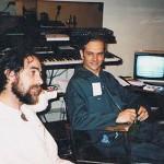 Robert dans le studio de Pierre Albert à Canada Bread au 90 King avec Normand Fortin